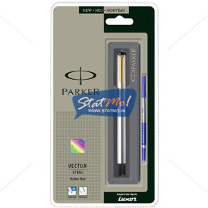 Parker Vector Stainless Steel GT Roller Ball Pen by StatMo.in