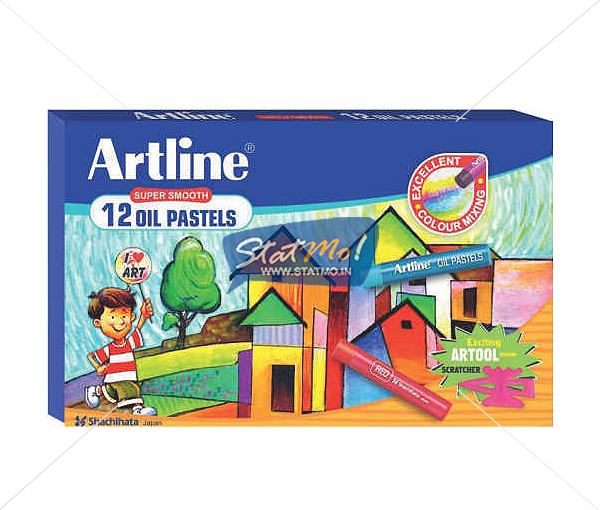 Artline Oil Pastels 12 Shades by StatMo.in
