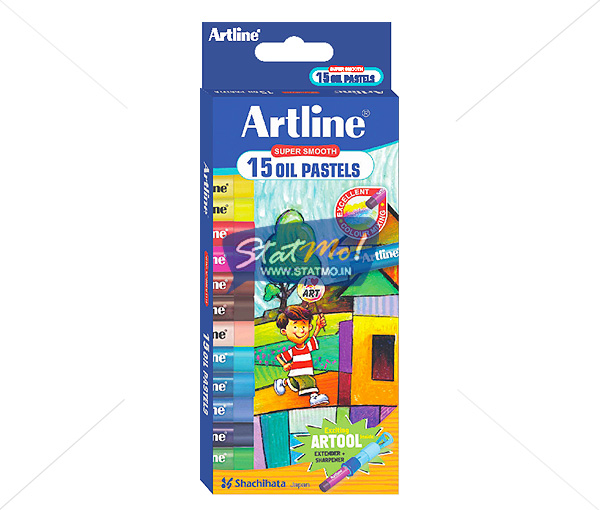 Artline Oil Pastels 15 Shades by StatMo.in