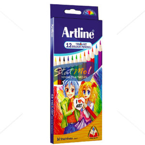 Artline Tri Art Colour Pencils Set of 12 by StatMo.in