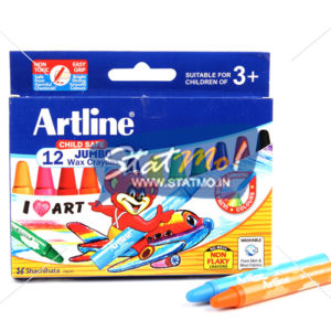 Artline Wax Crayon Jumbo 12 Shades by StatMo.in