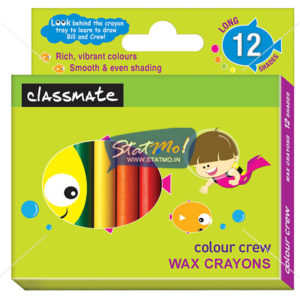 Classmate Wax Crayons 12 Shades by StatMo.in