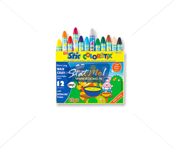 Stic Colorstix 12 Extra Long Wax Crayons by StatMo.in