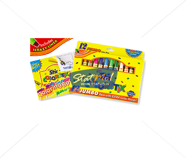 stic-colorstix-jumbo-color-pens-12-color-set by StatMo.in
