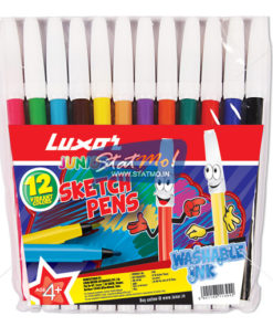 Luxor Junior Sketch Pens 12 Assorted Colours by StatMo.in