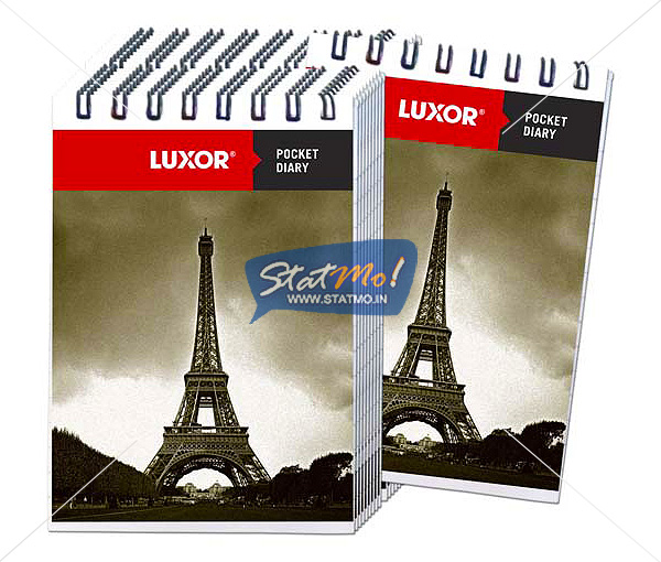 Luxor A7 Pocket Diary Single Ruled Notebook by StatMo.in