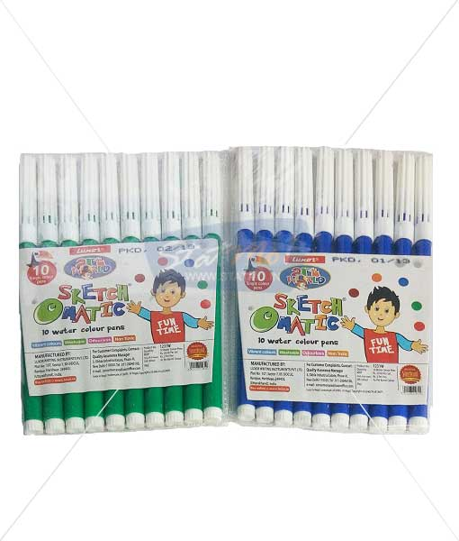 Luxar Sketch O Matic 10 Water Colour Pens by StatMo.in