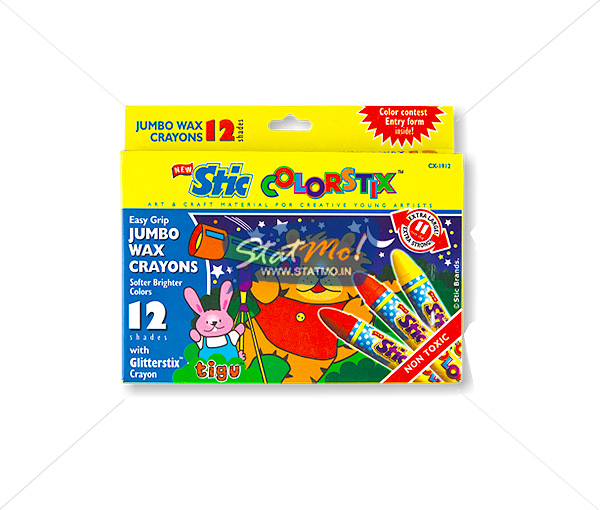 Stic Colorstix 12 Jumbo Wax Crayons by StatMo.in