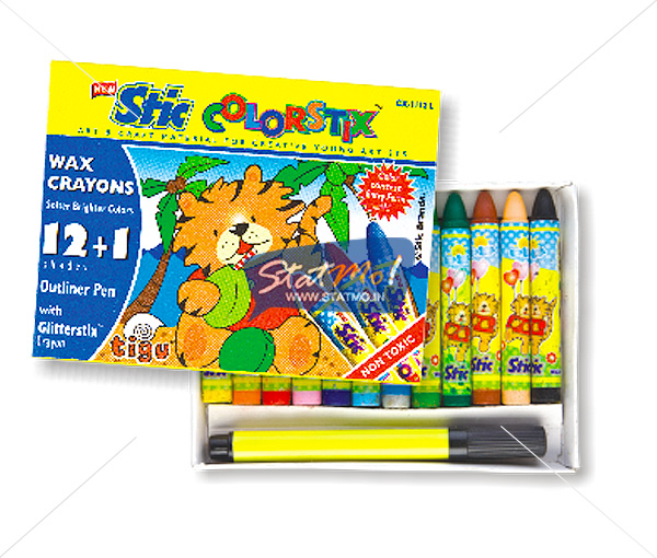 Stic Colorstix 12 Wax Crayons by StatMo.in