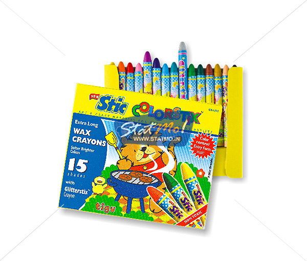 Stic Colorstix 15 Extra Long Wax Crayons by StatMo.in