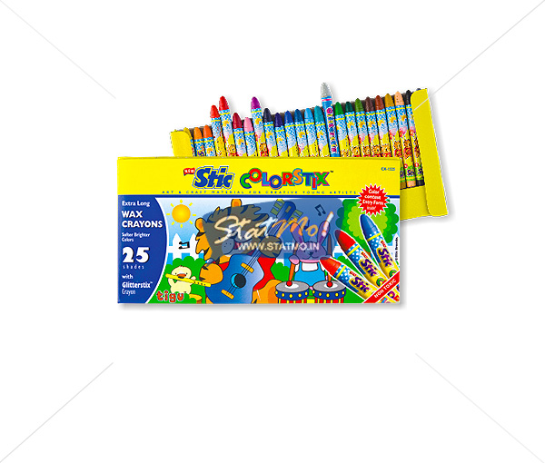 Stic Colorstix 25 Extra Long Wax Crayons by StatMo.in