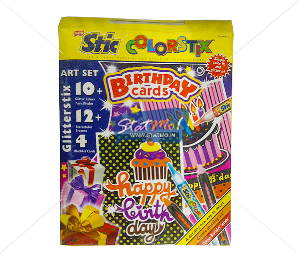 Stic Colorstix Birthday Cards Glitterstix Art Set by StatMo.in