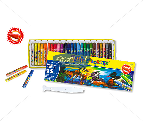 Stic Colorstix Hexa Oil Pastels 25 Color Set by StatMo.in