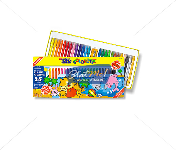 Stic Colorstix Plastic Crayons 25 Shades by StatMo.in