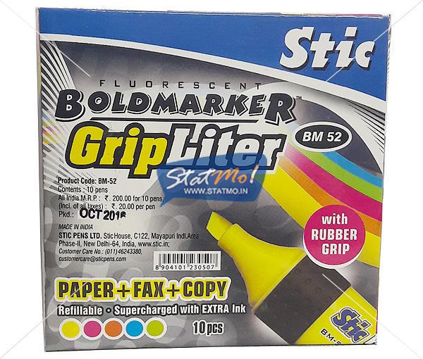Stic Grip Liter Fluorescent Bold Marker by StatMo.in
