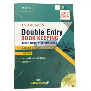T.S. Grewal's Double Entry Book Keeping Accounting for Companies Volume II Class 12th by StatMo.in