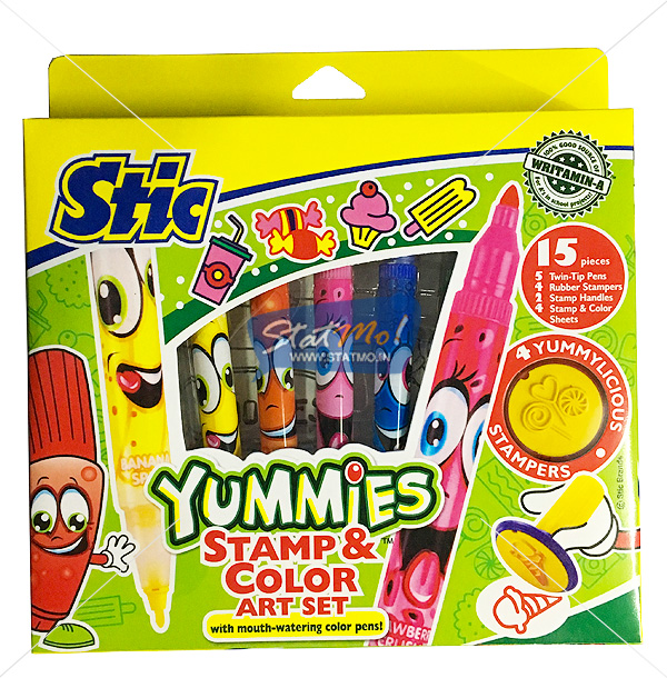 Stic Yummies Stamp & Color Art Set by StatMo.in