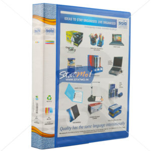 Solo Ring Binder 2-D Ring A4 with Front View Pocket by StatMo.in