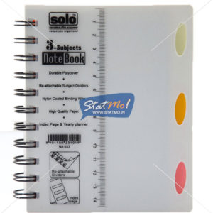Solo 3 Subjects Note Book by StatMo.in