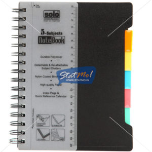 Solo 5 Subjects Note Book by StatMo.in