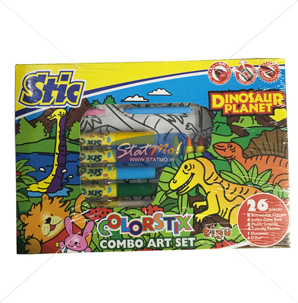 Stic Colorstix Dinosaur Planer 26 Combo Art Set by StatMo.in