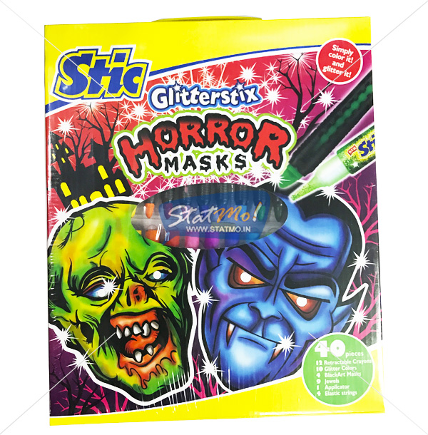 Stic Glitterstix Horror Masks Art Set by StatMo.in