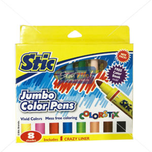 Stic Colorstix Jumbo Color Pens 8 Shades by StatMo.in