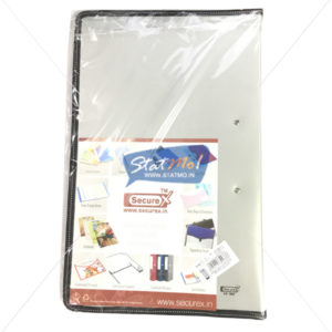 Securex Clear Display Book Zipper 20 Pockets FC by StatMo.in
