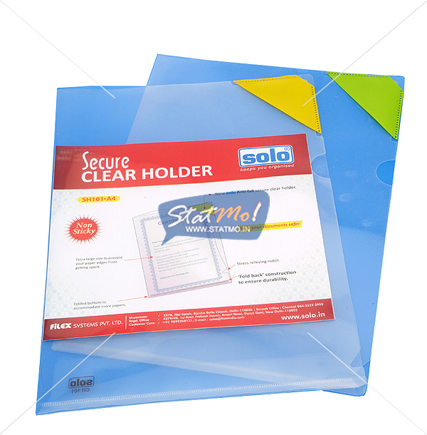 Solo Secure Clear Holder by StatMo.in