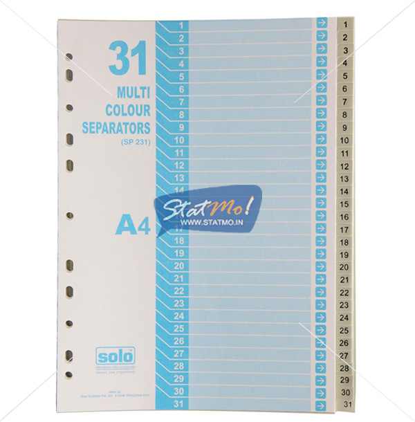Solo Separatorz Divider A4 Dividers Uni Colour by StatMo.in