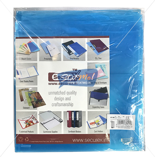 Securex Clear Bag Expandable Cheque Size by StatMo.in