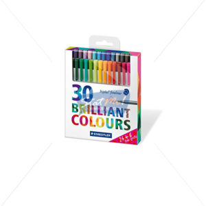 Staedtler Triplus Fine Liner 30 Brilliant Colours by StatMo.in