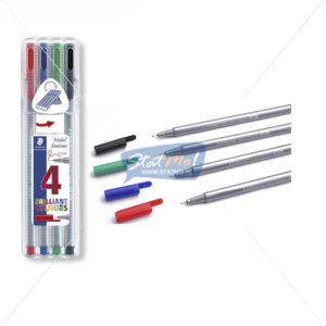 Staedtler Triplus Fine Liner 4 Brilliant Colours by StatMo.in
