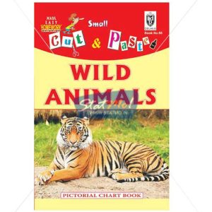 Cut and Paste Wild Animals Picture Booklet by StatMo.in