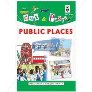 Cut and Paste Public Places Picture Booklet by StatMo.in