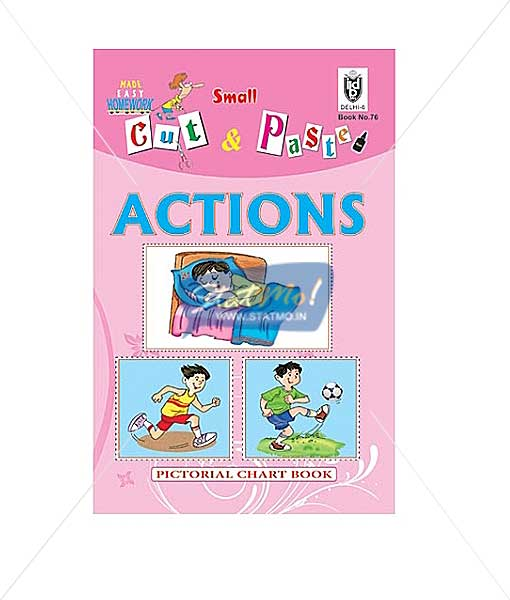 Cut and Paste Actions Picture Booklet by StatMo.in