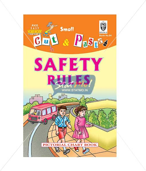 Cut and Paste Safety Rules Picture Booklet by StatMo.in
