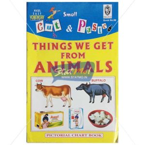 Cut and Paste Things We Get from Animals Picture Booklet by StatMo.in
