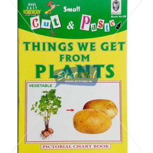 Cut and Paste Things We Get from Plants Picture Booklet by StatMo.in
