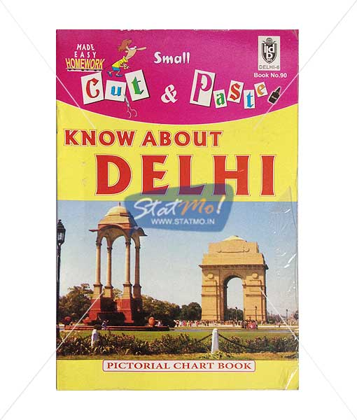 Cut and Paste Know About Delhi Picture Booklet by StatMo.in
