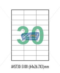 Desmat SA White A4û 30 Labels-Data 64 x 26.7 x 3 by StatMo.in`