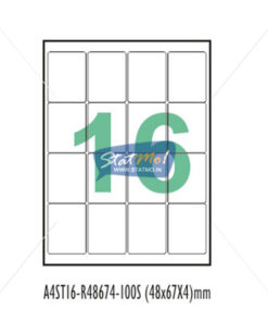 Desmat SA White A4 16 Labels-Data 48 x 67 x 4 by StatMo.in