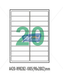 Desmat SA White A4 20 Labels-Data 98 x 28 x 2 by StatMo.in