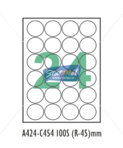 Desmat SA White A4 24 Labels-Data 90mm dia x 4 by StatMo.in