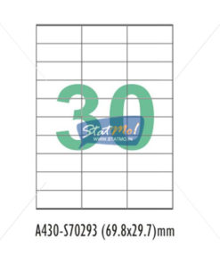 Desmat SA White A4 30 Labels-Data 69.85 x 29.7 x 3 by StatMo.in