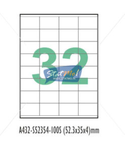 Desmat SA White A4 32 Labels-Data 52.3875 x 35 x 4 by StatMo.in