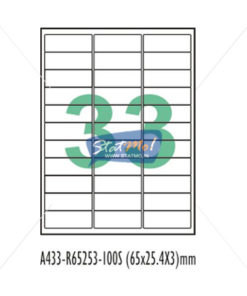Desmat SA White A4 33 Labels-Data 65 x 25.4 x 3 by StatMo.in