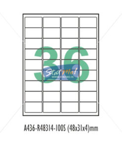 Desmat SA White A4 36 Labels-Data 48 x 31 x 4 by StatMo.in