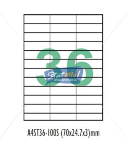 Desmat SA White A4 36 Labels-Data 70 x 24.75 x 3 by StatMo.in