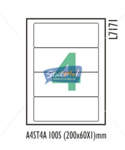 Desmat SA White A4 4 Labels-Data 200 x 60 x 1 by StatMo.in